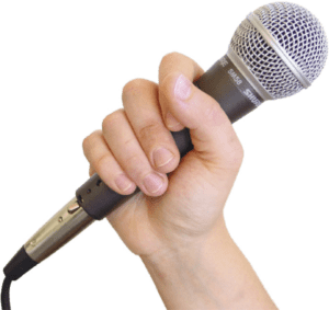 how to hold microphone